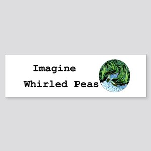 Imagine Whirled Peas Sticker (Bumper)